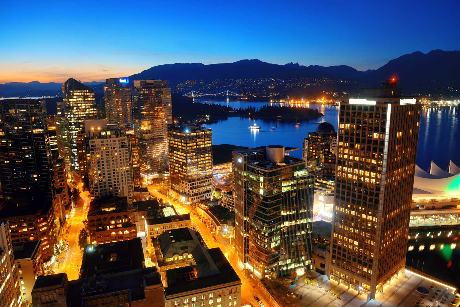 Vancouver rooftop view